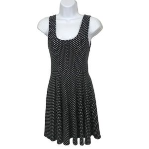 FREE PEOPLE XS BLACK AND WHITE SKATER DRESS